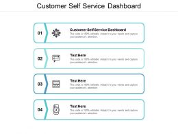 Customer Self Service Dashboard Ppt Powerpoint Presentation Pictures Summary Cpb