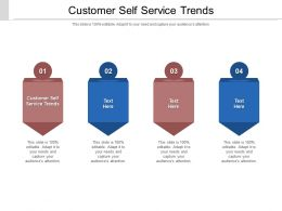 Customer Self Service Trends Ppt Powerpoint Presentation Icon Pictures Cpb