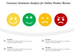 Customer Sentiment Analysis For Online Product Review