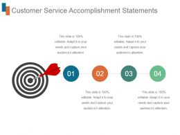 Customer Service Accomplishment Statements Ppt Example File