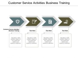 Customer Service Activities Business Training Ppt Powerpoint Presentation Styles Summary Cpb
