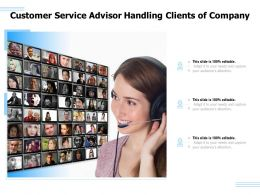 Customer Service Advisor Handling Clients Of Company