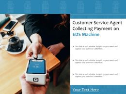 Customer Service Agent Collecting Payment On EDS Machine