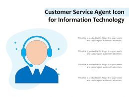 Customer Service Agent Icon For Information Technology