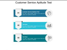 Customer Service Aptitude Test Ppt Powerpoint Presentation Model Slide Portrait Cpb