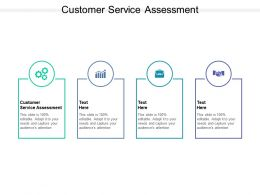 Customer Service Assessment Ppt Powerpoint Presentation Summary Gridlines Cpb