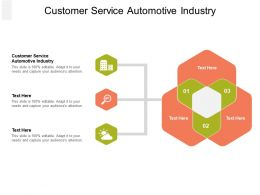 Customer Service Automotive Industry Ppt Powerpoint Presentation Slides Backgrounds Cpb