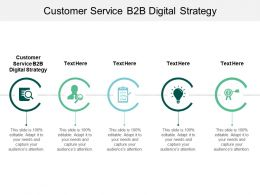 Customer Service B2B Digital Strategy Ppt Powerpoint Presentation Pictures Gridlines Cpb