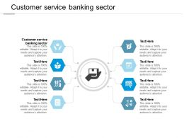 Customer Service Banking Sector Ppt Powerpoint Presentation Layouts Example Cpb