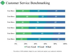 Customer Service Benchmarking Ppt Summary Visual Aids