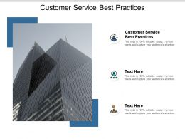 Customer Service Best Practices Ppt Powerpoint Presentation Slides Elements Cpb