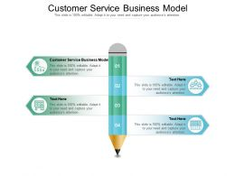 Customer Service Business Model Ppt Powerpoint Presentation Model Master Slide Cpb