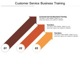 Customer Service Business Training Ppt Powerpoint Presentation File Show Cpb