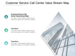 Customer Service Call Center Value Stream Map Ppt Powerpoint Presentation Layouts Cpb