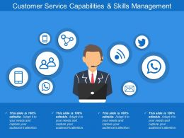 Customer Service Capabilities And Skills Management