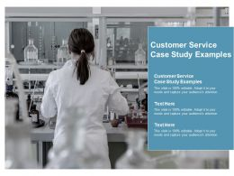 Customer Service Case Study Examples Ppt Powerpoint Presentation Icon Slide Cpb
