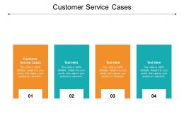 Customer Service Cases Ppt Powerpoint Presentation Outline Elements Cpb