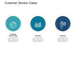 Customer Service Cases Ppt Powerpoint Presentation Slides Format Cpb