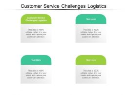 Customer Service Challenges Logistics Ppt Powerpoint Presentation Infographics Templates Cpb