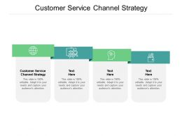Customer Service Channel Strategy Ppt Powerpoint Presentation Portfolio Cpb