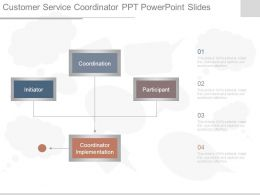 Customer Service Coordinator Ppt Powerpoint Slides