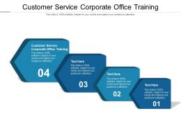 Customer Service Corporate Office Training Ppt Powerpoint Presentation Ideas Shapes Cpb