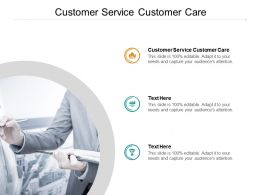 Customer Service Customer Care Ppt Powerpoint Presentationmodel Brochure Cpb