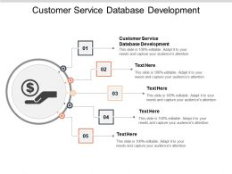 Customer Service Database Development Ppt Powerpoint Presentation Styles Background Cpb