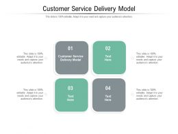 Customer Service Delivery Model Ppt Powerpoint Presentation Portfolio Cpb