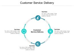 Customer Service Delivery Ppt Powerpoint Presentation Styles Designs Download Cpb