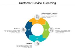 Customer Service E Learning Ppt Powerpoint Presentation Infographic Template Graphics Cpb