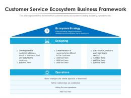 Customer Service Ecosystem Business Framework