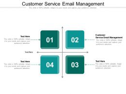 Customer Service Email Management Ppt Powerpoint Presentation Layouts Template Cpb