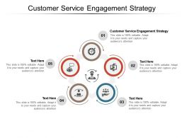 Customer Service Engagement Strategy Ppt Powerpoint Presentation Infographic Template Cpb