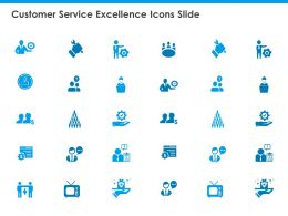 Customer Service Excellence Icons Slide Management Marketing
