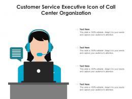 Customer Service Executive Icon Of Call Center Organization
