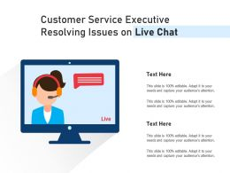 Customer Service Executive Resolving Issues On Live Chat