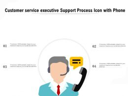 Customer Service Executive Support Process Icon With Phone