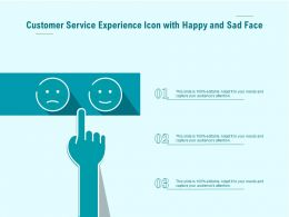 Customer Service Experience Icon With Happy And Sad Face