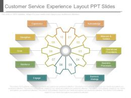 Customer Service Experience Layout Ppt Slides