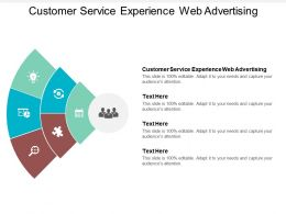 Customer Service Experience Web Advertising Ppt Powerpoint Presentation Infographic Template Infographics Cpb