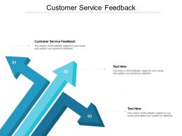 Customer Service Feedback Ppt Powerpoint Presentation Styles Picture Cpb