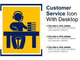 Customer Service Icon With Desktop