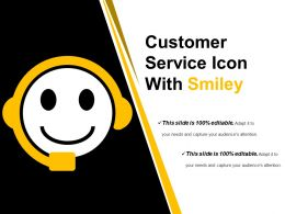 Customer Service Icon With Smiley