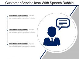 Customer Service Icon With Speech Bubble