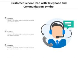 Customer Service Icon With Telephone And Communication Symbol