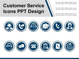Customer Service Icons Ppt Design