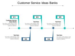 Customer Service Ideas Banks Ppt Powerpoint Presentation Styles Background Images Cpb