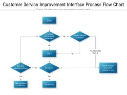 Customer Service Improvement Interface Process Flow Chart