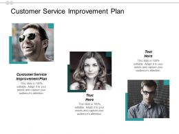 Customer Service Improvement Plan Ppt Powerpoint Presentation Infographics Smartart Cpb